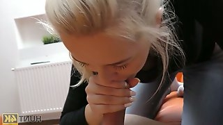 Amateur Czech chick is picked up and fucked by barely known guy