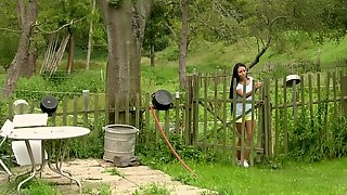 Hot Ass Lesbians Having Some Nasty Outdoor Fun On A Farm
