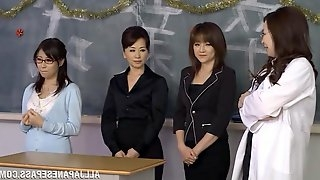 A few Japanese teachers celebrate New Year with group sex
