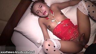 Chinese New Year Triple Cum - LadyboyGold