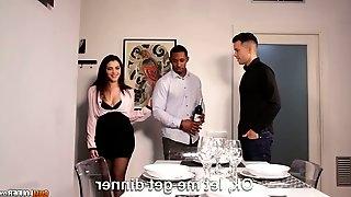 Captivating Italian hottie Valentina Nappi is fucked by boyfriend and his black neighbor