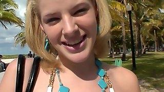Cute teen babe Ally Ann hot POV sex video