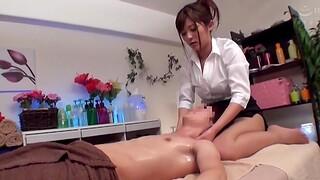 Stunning Japanese chick wants around massage a friend's hard dick