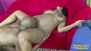 Thick ebony hottie has all an obstacle right moves for a black bull