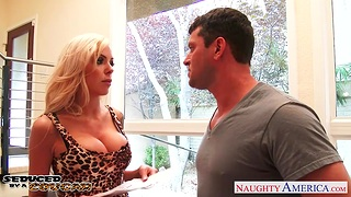Ample breasted madam Nina Elle gets put forth with young nextdoor guy