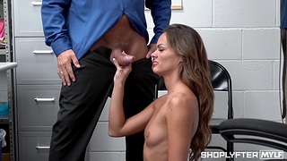 Small interior chick Aila Donovan gets fucked hard in slay rub elbows with office