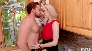 Young seducer fucks mature woman living nextdoor Maxim Law