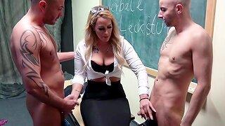 German amateur teacher fucks triad