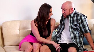 Horny man with a fat Hawkshaw fucks wet pussy of sexy MILF Kendra Die for