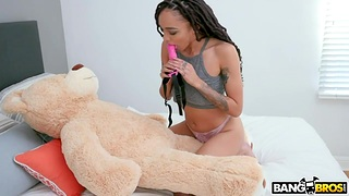 Black stepsiblings XXX photograph featuring Julie Kay and Isiah Maxwell