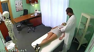 Blonde hottie fucked by her long time doctor