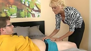 Aunts drilled and sucks more excellent